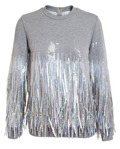 ASHISH Fringed Sequin Sweatshirt