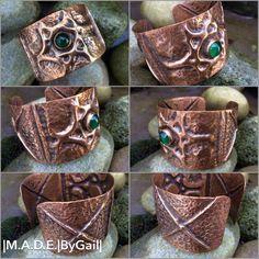 Copper Wire Art, Copper Work, Copper Cuff, Copper Bracelet, Metal Bracelets, Bracelet Set, Hammered Copper, Metal Work, Jewelry Bracelets
