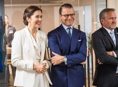 Crown Princess Mary of Denmark and Prince Daniel of Sweden visited the AB Sverige Design Lounge (Designlounge) in Stockholm.