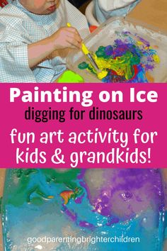 Having fun at grandparent's house with 9 dinosaur activities. From making dino pancakes to asphalt archeology & digging for dinosaur bones to painting on ice to unveil dinosaurs encased in ice to reading, music & more! #grandparents #grandchildren #activitiesfor #dayactivities #daycrafts #howtobethebest #mykidshavethebest Dinosaur Activities, Dinosaur Crafts, Indoor Activities For Kids, Preschool Activities, Dinosaur Bones, The Good Dinosaur, Holiday Crafts For Kids, Crafts For Boys, Creative Arts And Crafts