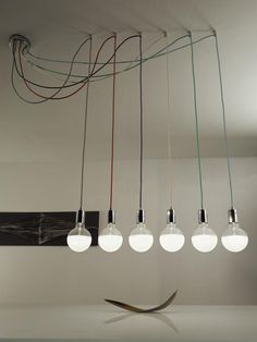 Pretty Photo of Bulb Chandelier Industrial Modern - Interior Design Ideas & Home Decorating Inspiration - moercar Room Lights, Hanging Lights, Interior Lighting, Home Lighting, Edison Lighting, Lighting Design, Deco Luminaire, Modern Pendant Light, Chandelier Pendant Lights