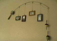 Fishing Rod Photo display (A way to repurpose old fishing rod)