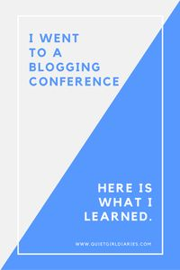 I went to a blogging conference