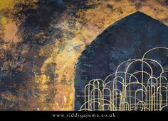 Arched domes Islamic Paintings, Islamic Art, Landscape Paintings, Middle, Abstract, Summary, Landscape, Landscape Drawings