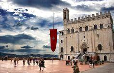 Gubbio, Piazza Grande, May - Umbria