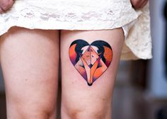Artistic geometrical fox tattoo by Jagoda Inktica