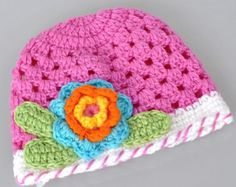 Girls Beanie Beanie Hats Baby Crochet Hat Baby by BabyGirlsGlam, $12.99