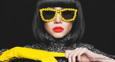 Fashion Studio Photo Of Stylish Lady In Gloves And Sunglasses Stock Photo, Picture And Royalty Free Image. Brunette Models, Beatnik, Beauty Inside, Facial Skin Care, Fashion Studio, Spa Day, Photo Studio, Diy Fashion, Vogue