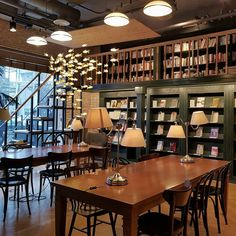 The Top 16 Cafes in Seoul to Read in Here are the best cafes in Seoul for those needing some quiet time to get work done or read a good book. Coffee Shop Interior Design, Coffee Shop Design, Cafe Design, Design Design, Korea Cafe, Study Cafe, Seoul Cafe, Bookstore Design, Café Vintage