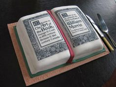 Cake for The Art of the Book, inspired by William Morris. All edible.