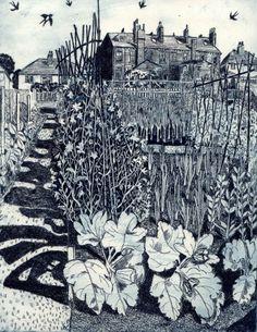Janie Goodman - Swallows and sweet peas
