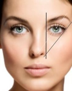 Here is the guide to getting the perfect brow shape for your face.   STEPS  1. You want to take a pencil and line it up from the side of your nose straight up to your eyebrow, this is were your eyebrow should start.  2. Then take the pencil from the tip of your nose across your pupil, this is were your arch should be.  3. Last take your pencil from the side of your nose again across the outer corner of your eye and this is where your eyebrow should end.