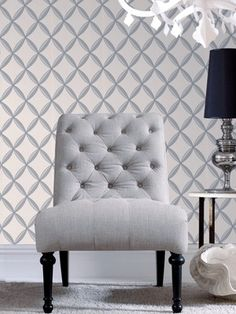 Anis White Wallpaper - Silver Geometric Wall Coverings by Graham Brown: Removable Metallic Wallpaper, White Wallpaper, Geometric Wallpaper, Wall Wallpaper, Buy Wallpaper Online, Wallpaper Stores, Wallpaper Samples, Room Color Design, Family Room Colors