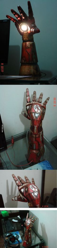 Homemade Iron Man Desk Lamp.