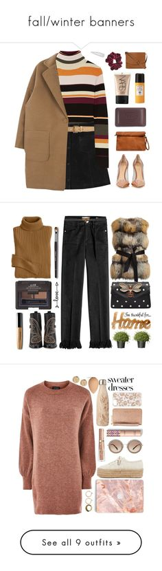 """""""fall/winter banners"""" by houseofalice ❤ liked on Polyvore featuring Paul & Joe, Monki, Miu Miu, Gianvito Rossi, Thalgo, Acqua di Parma, NARS Cosmetics, Wild Pair, Forever 21 and Fat Face"""