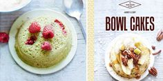 Mini-bowl cakes thé matcha et framboises Bowl Cake, Matcha, Cake Recipes, Oatmeal, Breakfast, Mini, Desserts, Food, Sliced Almonds