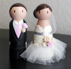 Fluffy dress Bride and Groom