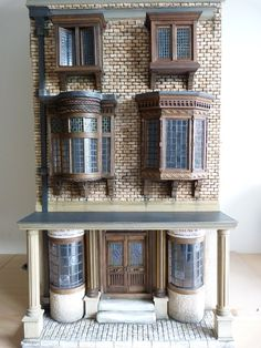 Transformation of a standard Bath Town House by Barbara's Mouldings into my own fantasy Dickensian perfume shop.