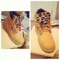 Cheetah And Spiked Timerlands !!!!!!!!!! BasicallyBangin ((: