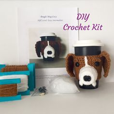 Crochet Kit  Amigurumi Kit  DIY Craft Project  by HookedbyAngel