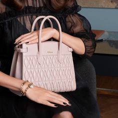 """a2ba47c28b17 FURLA on Instagram: """"Impactful design, powerful appeal. The classic Pin  Tote Bag gains a fresh look with the quilted nappa geometric pattern."""