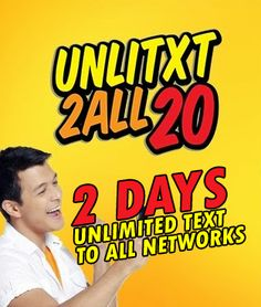 Talk N Text (TNT) UA20 – 2 Days Unlimited Text to ALL NETWORKS Promo
