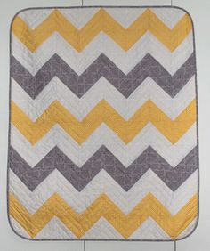 Tips for easily making half triangle squares for a chevron quilt. So genius!