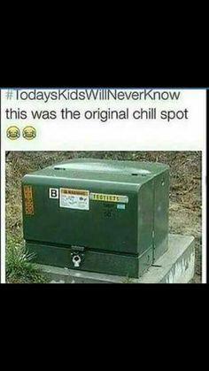 Omg, I remember sitting on one of these when I was younger, and hanging out with my friends Funny Quotes, Funny Memes, Hilarious, Jokes, Right In The Childhood, Down South, 90s Kids, I Can Relate, Back Home