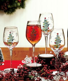 Great Christmas wine glasses!