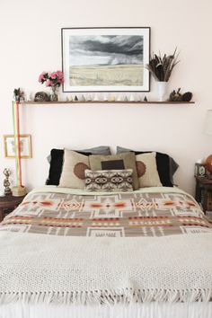 Small shelf above the bed,love