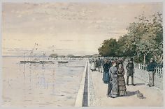 Childe Hassam (American, 1859–1935). Esplanade, Dunkerque (The Beach at Dunkirk), 1883. The Metropolitan Museum of Art, New York. Gift of Mr. and Mrs. Arthur G. Altschul, 1971 (1971.246.2)