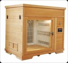 Cage Dryer. Looks like a little sauna. Useful, pretty object.