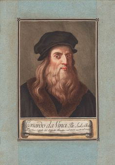 Leonardo da Vinci, who died 500 years ago yesterday, which is an astonishing thought, since the fascination with him as the personification of the Renaissance man has never faded. This 18th-century color-printed etching and engraving by Carlo Lasinio was based on a painting that was long believed to be a self-portrait, but in 1938 x-ray analysis showed it was made at least 100 years after he died. Yet this picture conveys what he may have looked like as a vibrant young man. Italian Painters, Italian Artist, Pictorial Maps, Renaissance Men, Antique Prints, Reformation, Portrait Art, Young Man, Natural History