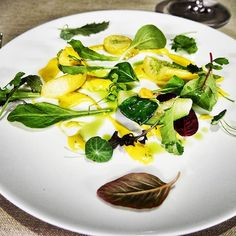 Perfection on a plate! Just one of the incredible dishes at GLAM Restaurant in Palazzo Venart one of only two Venetian hotels with a garden directly on the Grand Canal. Enrico Bartolini is Italy's youngest 2 Michelin starred chef and his new restaurant certainly deserves a star in our eyes!