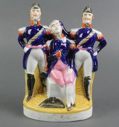 """Lot 10, A 19th Century Staffordshire figure - The Death of Nelson 8"""", sold for £80"""