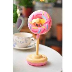 This strawberry doughnut mini fan ($25)