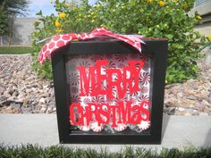 Now to share some more inspiration for Christmas shadow boxes from around the web with you. I shared mine earlier …