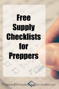 Free Supply Checklist for Preppers. Be prepared to handle the unexpected, whether that is something large or small or large.