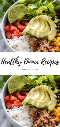 12 Easy Healthy Dinner Recipes for Family - Healthy Chicken Carnitas Burrito Bowl food recipe recipes 684617580831082169 Cheap Healthy Dinners, Healthy Family Dinners, Cheap Dinners, Healthy Dinner Recipes, Easy Cheap Dinner Recipes, Healthy Dinner Options, Fast Recipes, Family Recipes, Lunch Recipes