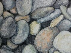 Pebbles. 2012. 33.3 x 24.2cm. Mixed Media on Wood.