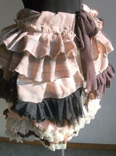 burlesque skirt, bustle skirt, lace skirt, pink, dusty pink,stripes, steampunk, victorian, marie antoinette, layers and frills, lace,brown