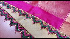 Crochet saree kuchu flower arch V-shape with beads / Krosha saree tassels #4 - YouTube