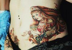 Russian style tattoo