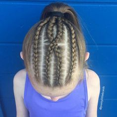 Ideal Children's Hairstyles With a Combination of Pigtails. Hairstyles Girly Your Daughter will Love Cornrow Hairstyles White, Cool Braid Hairstyles, Black Women Hairstyles, Girl Hairstyles, Cornrow Braid Styles, Cornrows, Swimming Hairstyles, Childrens Hairstyles, Cool Braids