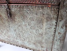 Detail of Antique Indian Dowry Chest available on christiannouyou.com