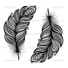plumes décoratives hors pair — Illustration #32946165