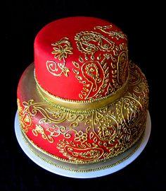 Indian Weddings Inspirations. Henna Wedding Cake. Repinned by #indianweddingsmag indianweddingsmag.com #weddingcake
