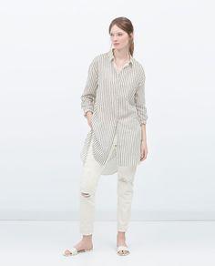 LONG ASYMMETRIC SHIRT-View all-Dresses-WOMAN | ZARA United States