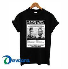 Prison Break T-shirt men, women adult unisex size S to 3XL
