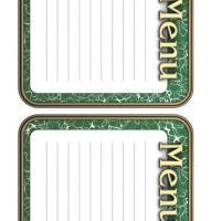 REPIN and LIKE Printable Menu Recipe Cards - FreePrintable.com
